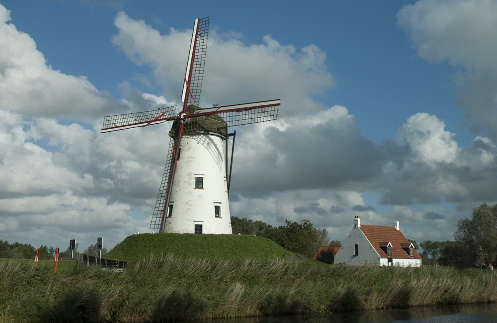 Schellemolen windmill at Damme, Belgium