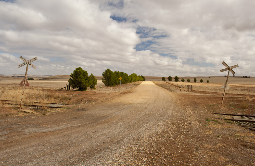 Disused railway line running from Adelaide into the mid North, Clare Valley, South Australia