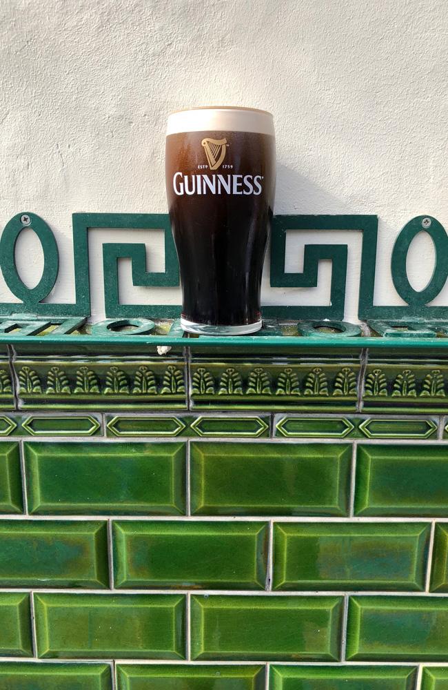 A pint of Guinness outside a pub, Dublin, Ireland