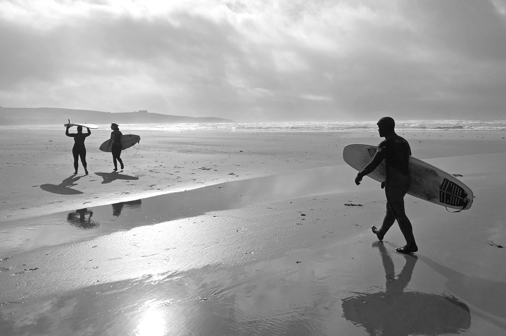 Surfers on Inchydoney Beach, County Cork, Republic of Ireland