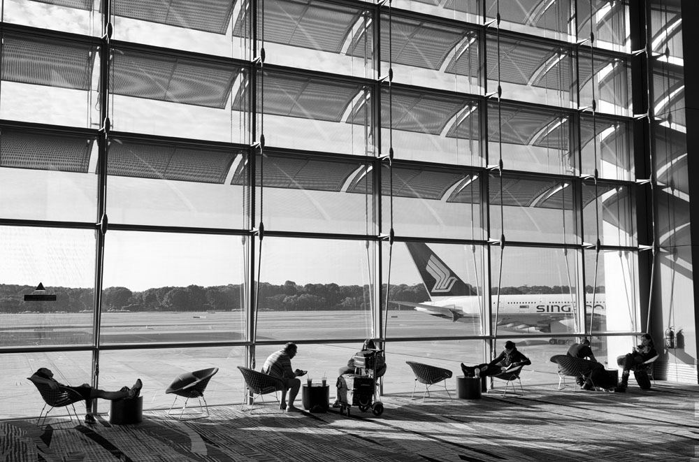 Passengers in transit, Changi Airport, SIngapore